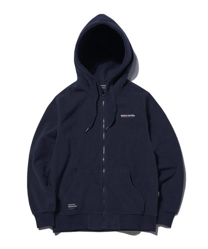 2018 POLAR FLEECE HOOD FULL ZIP-UP (NAVY) [GHZ008G43NA]
