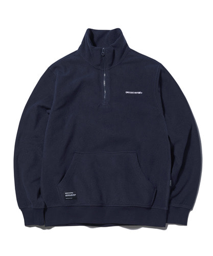 2018 POLAR FLEECE HALF ZIP-UP (NAVY) [GNZ001G43NA]