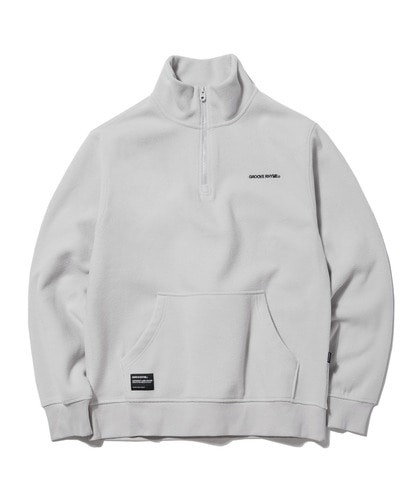 2018 POLAR FLEECE HALF ZIP-UP (LIGHT GRAY) [GNZ001G43LG]
