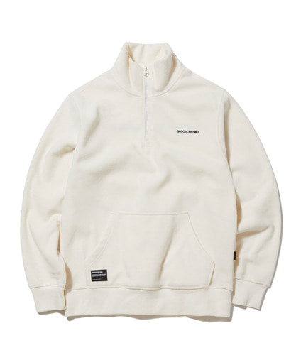 2018 POLAR FLEECE HALF ZIP-UP (WHITE) [GNZ001G43WH]
