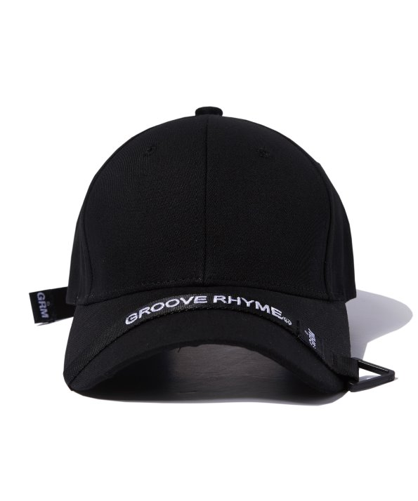 TAPE PEAK BALL CAP (BLACK) [GCA010G13BK]