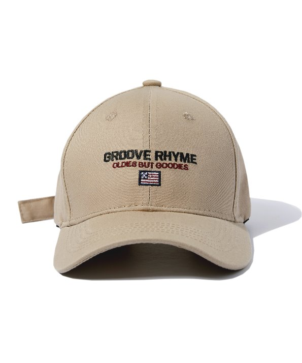 LOGO SLOGAN BALL CAP (BEIGE) [GCA011G13BE]