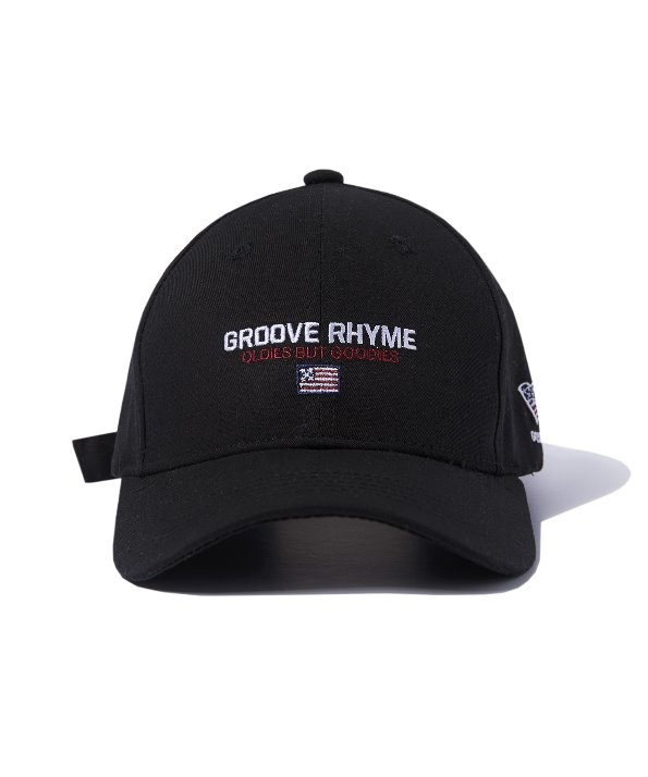 LOGO SLOGAN BALL CAP (BLACK) [GCA011G13BK]