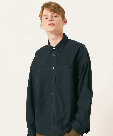 OUT POCKET SHIRTS (BLACK) [FSH002H13BK]