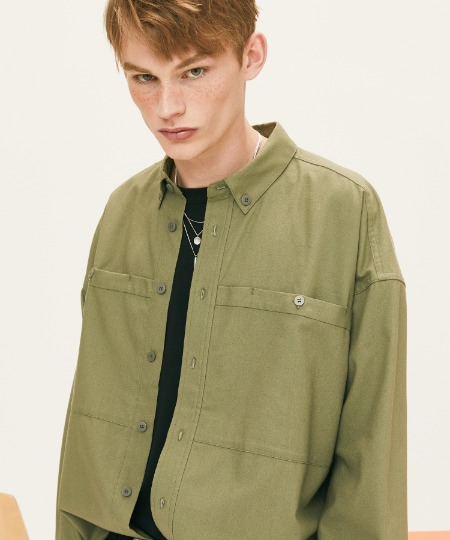 OUT POCKET SHIRTS (KHAKI) [FSH002H13KH]
